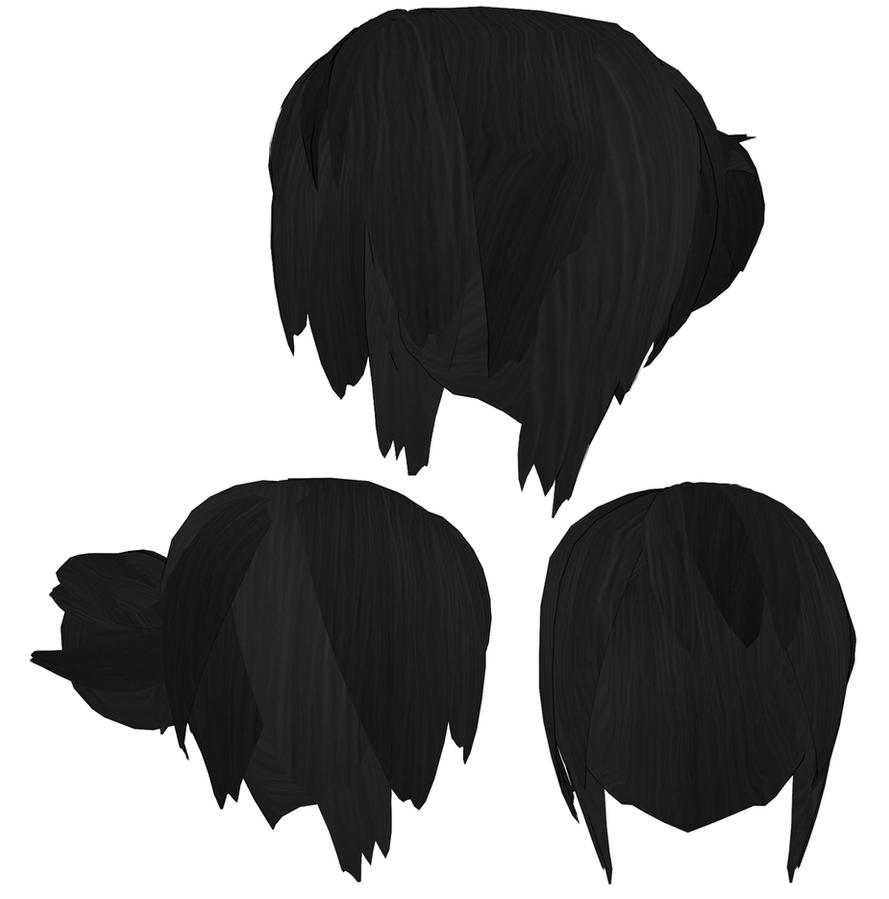 Hair with bun DL MMD+OBJ by RuchiiP