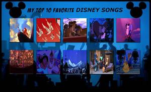 My Top 10 Favorite Disney Songs by FireMaster92