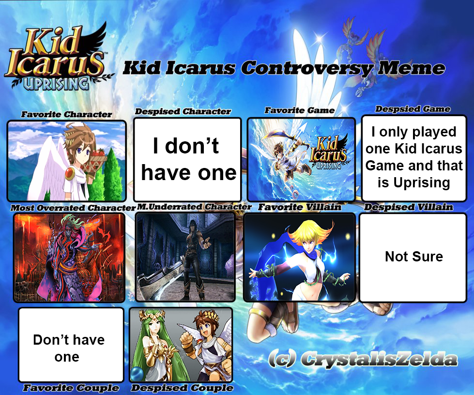 My Kid Icarus Controversy Meme by FireMaster92