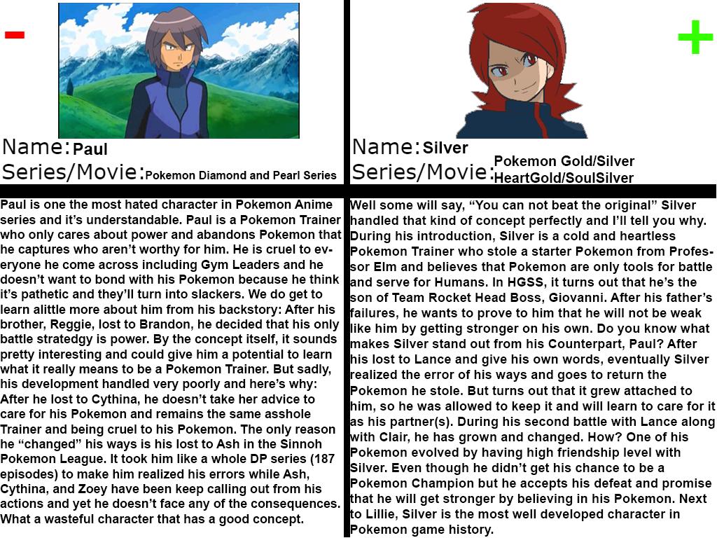 Character Comparison - Cruel Pokemon Trainer Rival by FireMaster92