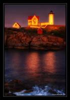 Nubble Light by goldomega