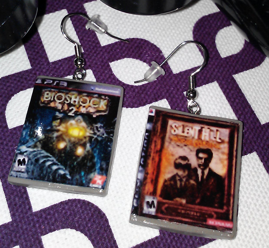 Mini PS3 Game Case Earrings by Narcissistic-Kittie on ...