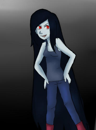 Marceline the Vampire queen by XNessNessX