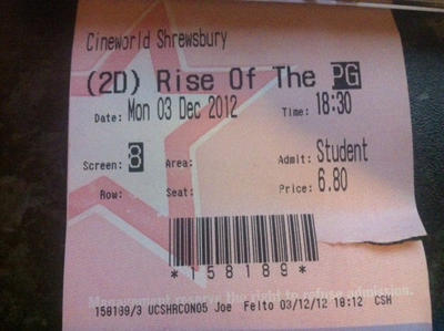 Saw RotG, first day it came out ! by Huasal