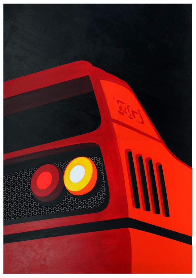 Ferrari F40 acrylics on canvas by LasseBauer