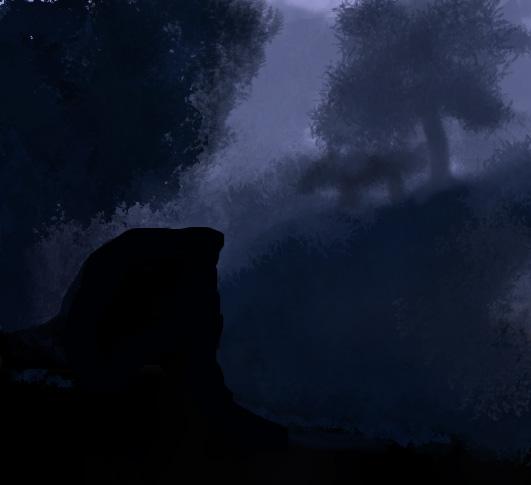 Landscape-sketch  by abarablue
