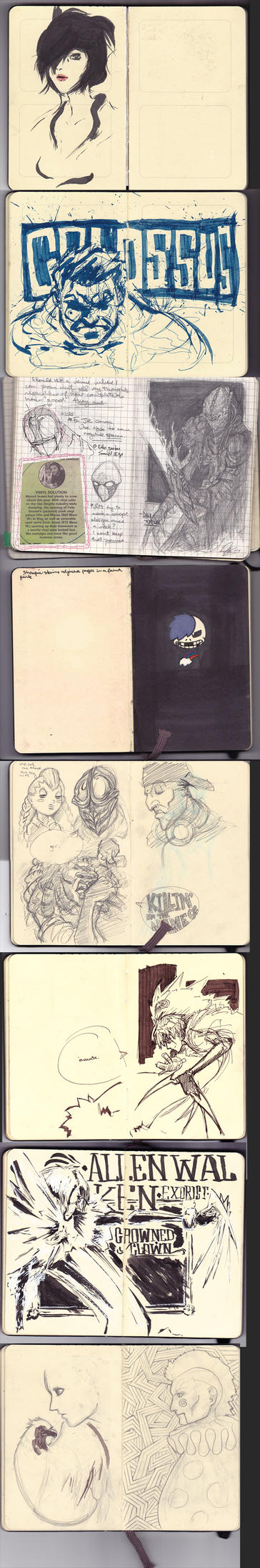 Various Moleskine Pages by aestheticartist