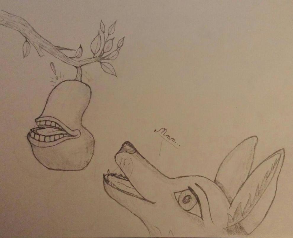 The Bitten Pear by FoxyMcWolfington