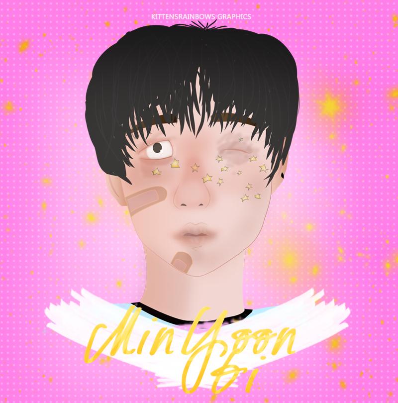 Min Yoon Gi |Inspiren on @aniyoongi drawn on IG| by kxtty-cutie
