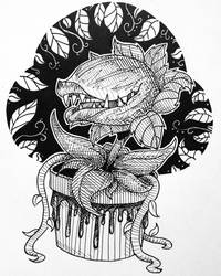 Inktober Day 5 : Little Shop of Horrors
