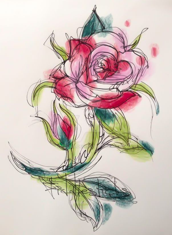 Watercolour Rose Tattoo Design By Scura On Deviantart