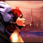 Femshep x Liara 2 by hentaithimy