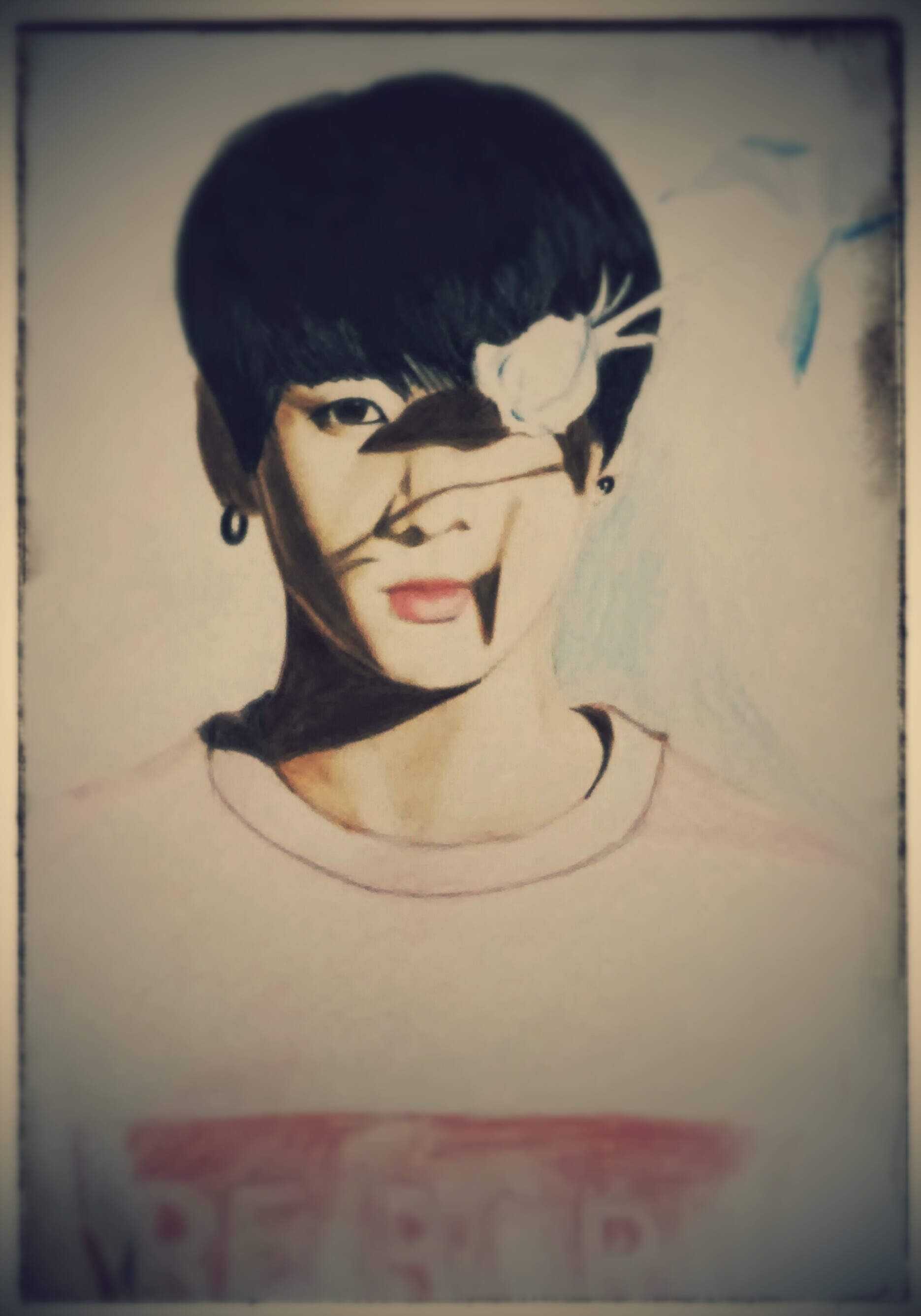 This is a photo of Ambitious Flower Boy Drawing