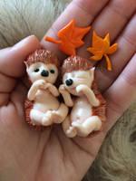 Hedgehog-Elfs by annieelf