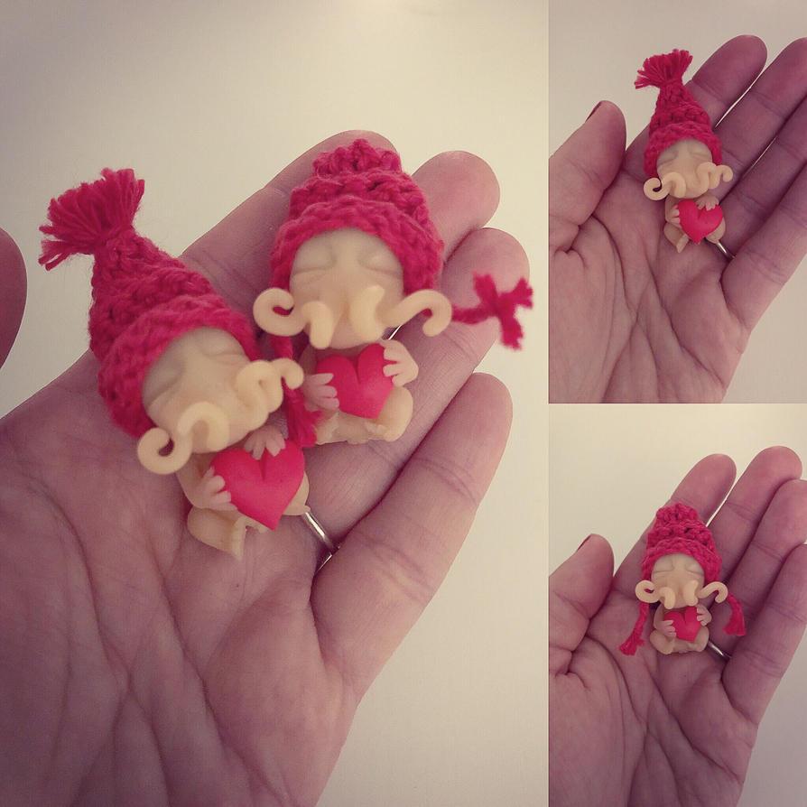 Little Valentine Octoelfs by annieelf