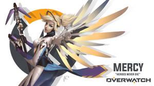 OVERWATCH : MERCY by d-breeze