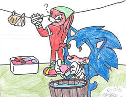 .:Sonic Boom:. Losers does the Laundry! by BlackSista100