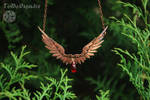 Copper necklace wings