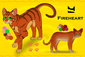 Fireheart reference sheet by AlbaBelen