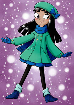 Stacy in winter outfit 2018