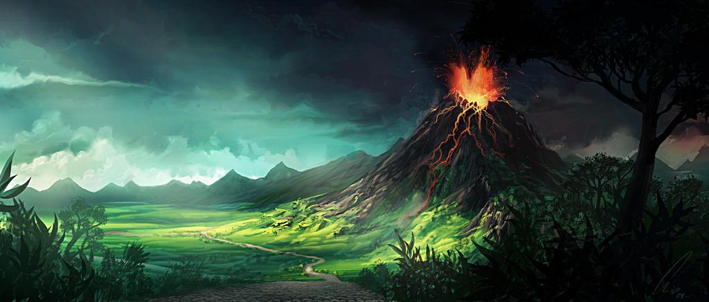 volcano by CrackBag