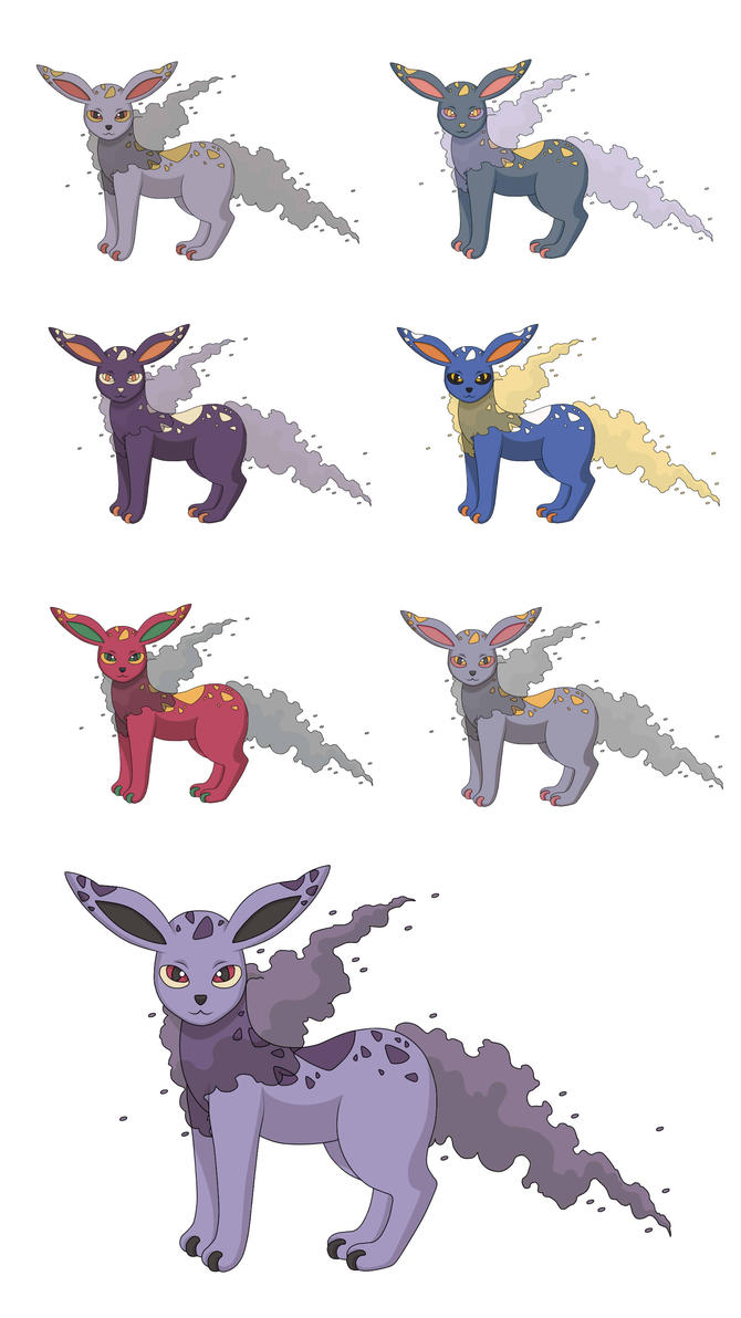 Eevee Poison Evolution - Smogeon Colour Pallets by ...