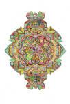 Botanical inspired zentangle - Pineapple addition