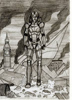 B Shepard on Earth by SteveNoble197