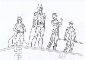 Batman trio by SteveNoble197