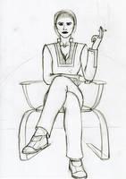 Illusive Woman sketch by SteveNoble197