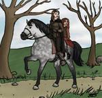 Misscliks fanart - On a horse