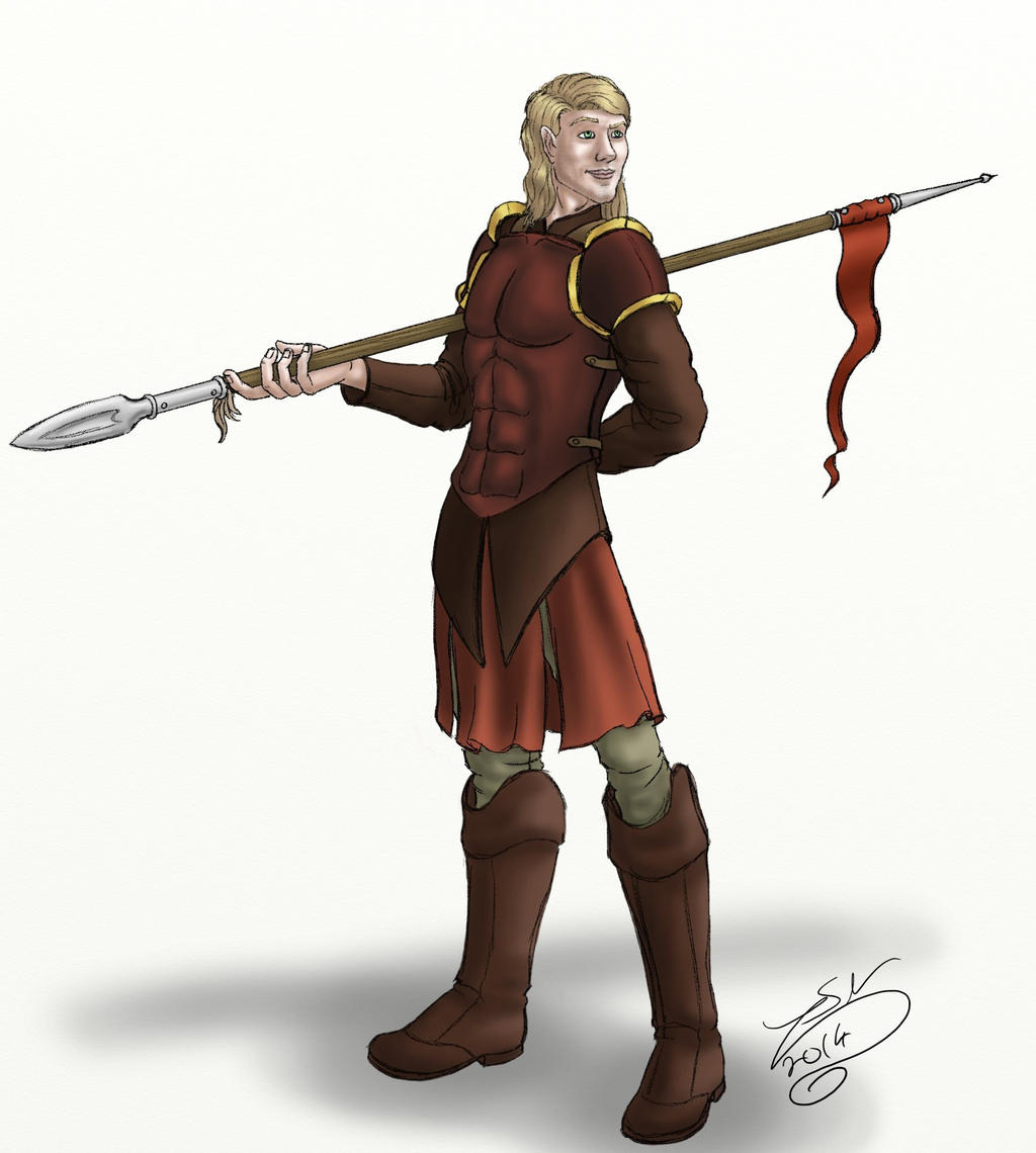 DnD NPCs - Crimson spearman