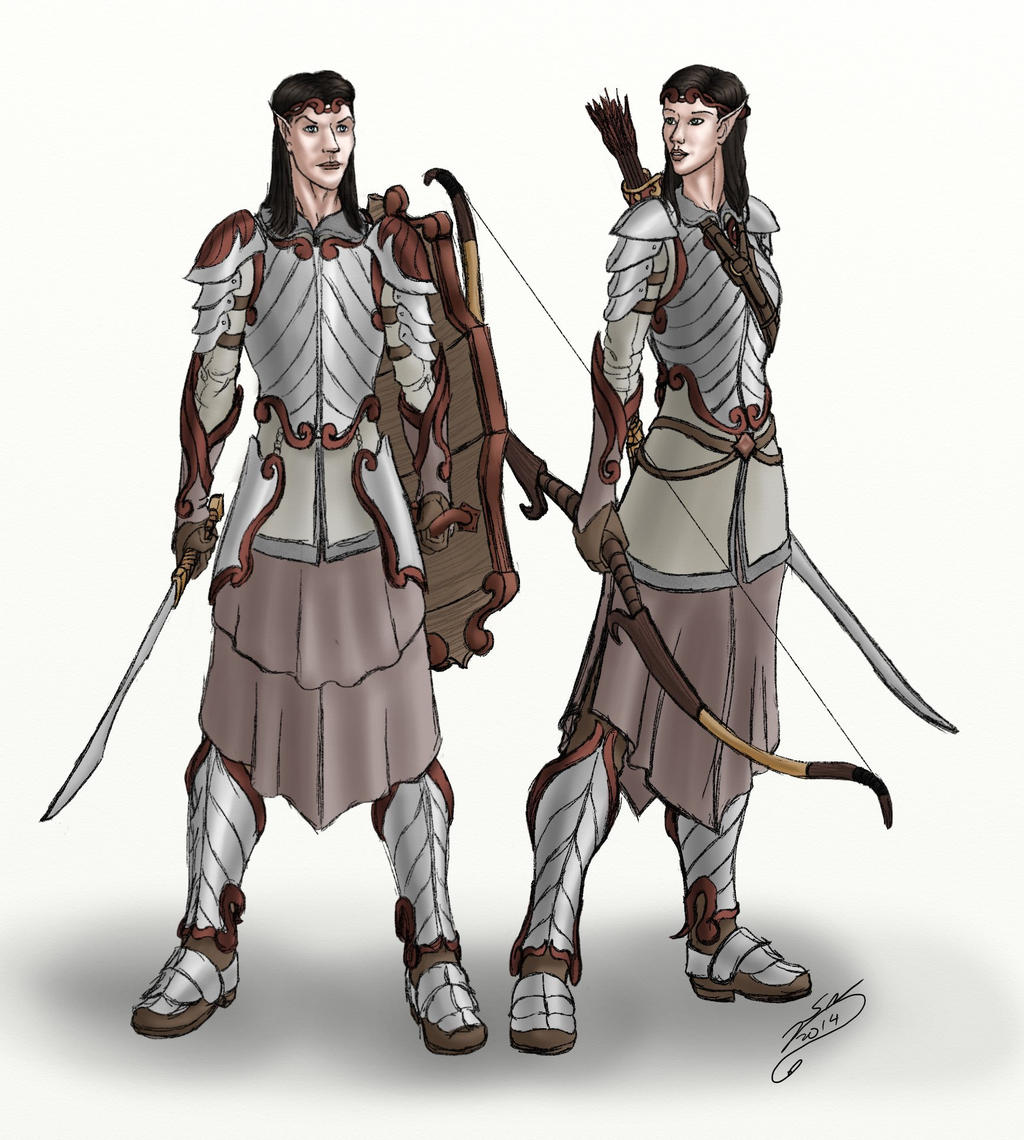 DnD NPCs - Snow Elves