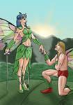 Fairy Queen and suiter