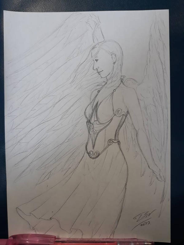 School scribbles - angel