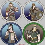 Token Collection - The Kelmer (fantasy Vikings)