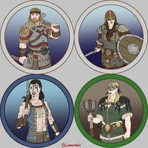 Token Collection - The Kelmer (fantasy Vikings)