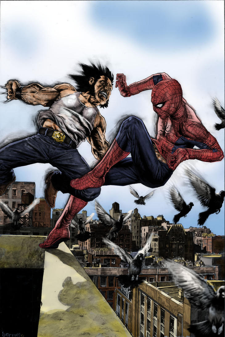 Logan x Spidey colored by Denis-Mello