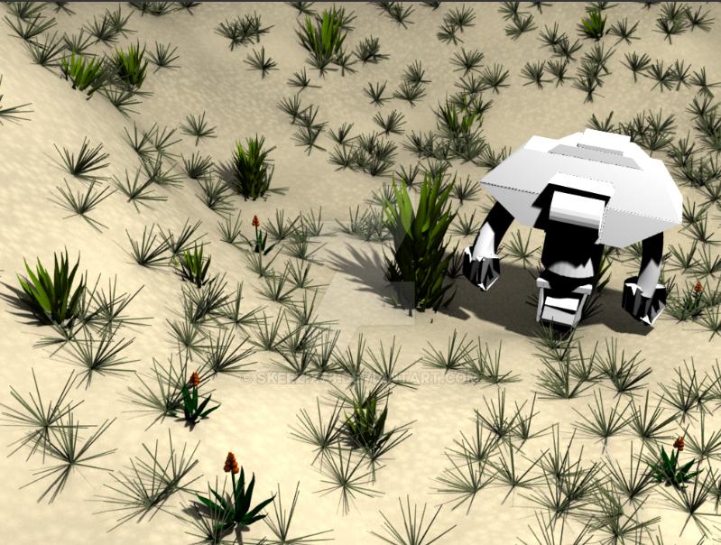 Chasertron [Desert Render] by skeezix78