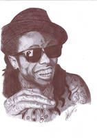 Lil Wayne Pen Portrait by Craig-Stannard