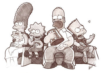 Simpsons Sketch :P by Craig-Stannard