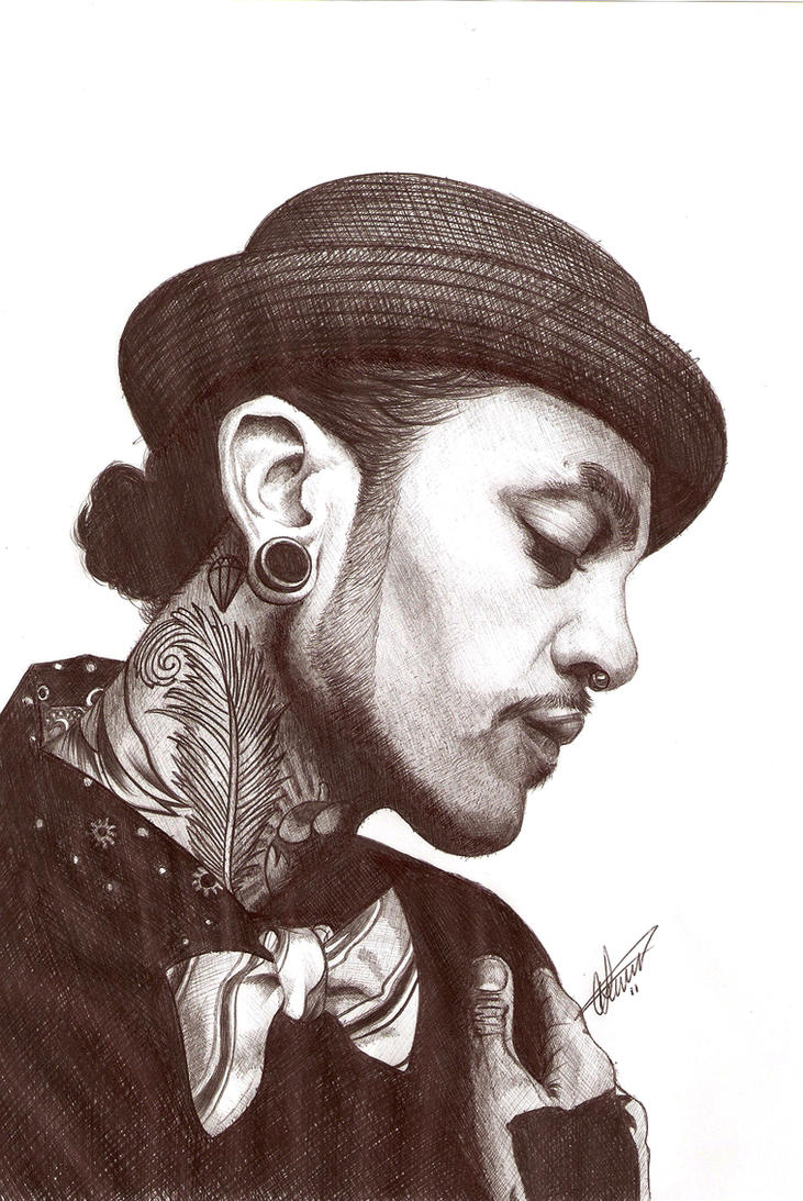 Travie Mccoy Biro portrait by Craig-Stannard
