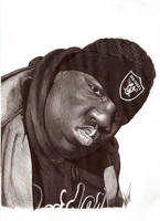 Biggie Smalls biro portrait by Craig-Stannard
