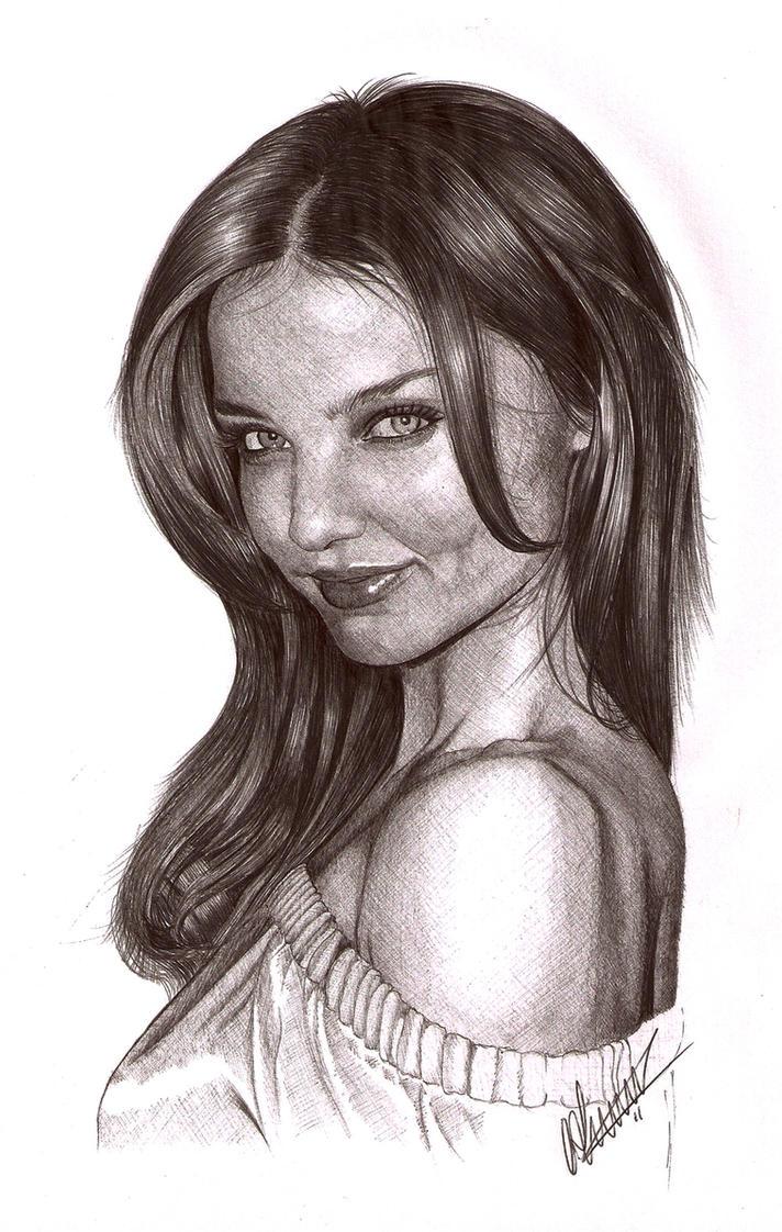 Miranda Kerr Biro Portrait by Craig-Stannard