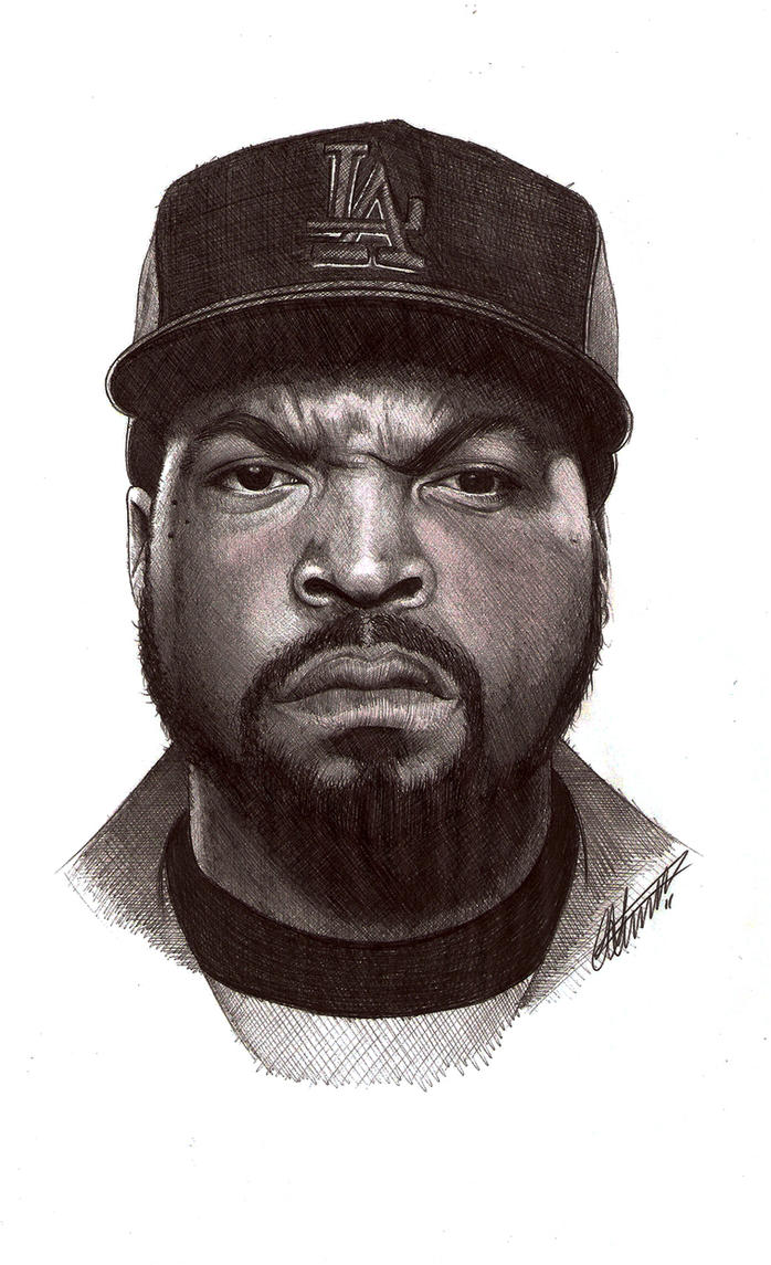 Ice Cube biro portrait by Craig-Stannard on DeviantArt