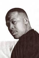 Dr Dre Ballpoint Biro Portrait by Craig-Stannard