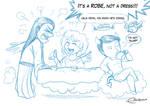 Eternal trio - Tea time (sketch) by Raygirl13
