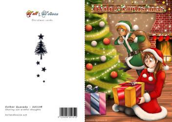 Merry Christmas! - 2015 postcard - DINA6 size
