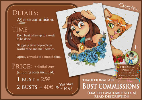 A5 Bust Commissions - English (OPEN)