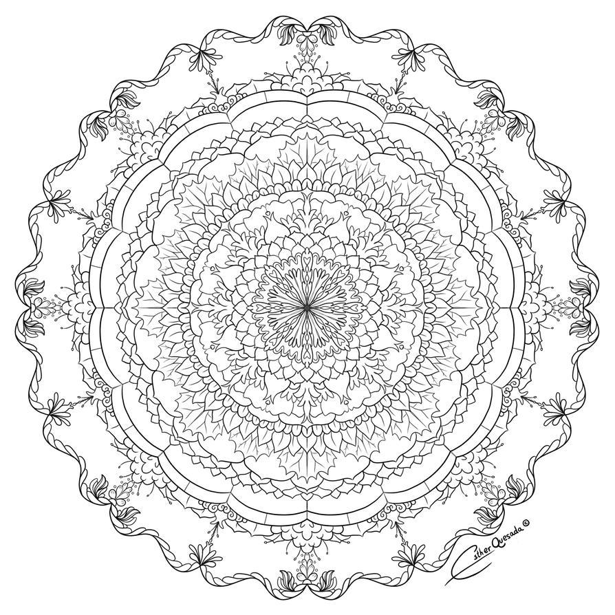 Flower Mandala by Raygirl13
